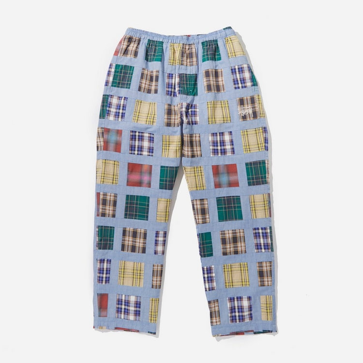Stussy Madras Patchwork Relaxed Pants