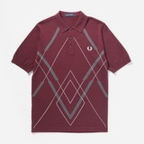 Fred Perry Argyle Knitted Polo Shirt