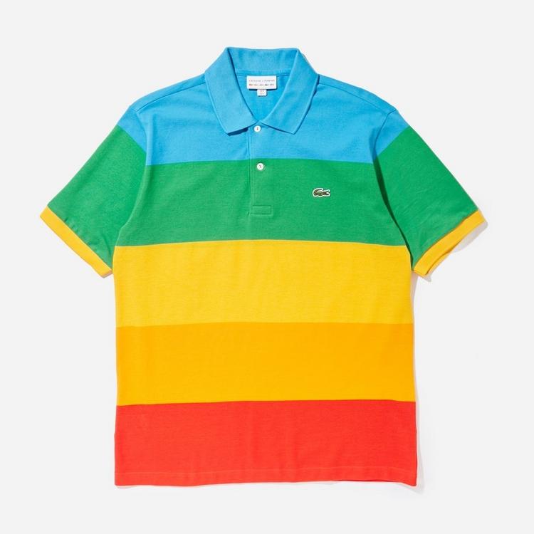 Lacoste x Polaroid Colour Striped Polo Shirt