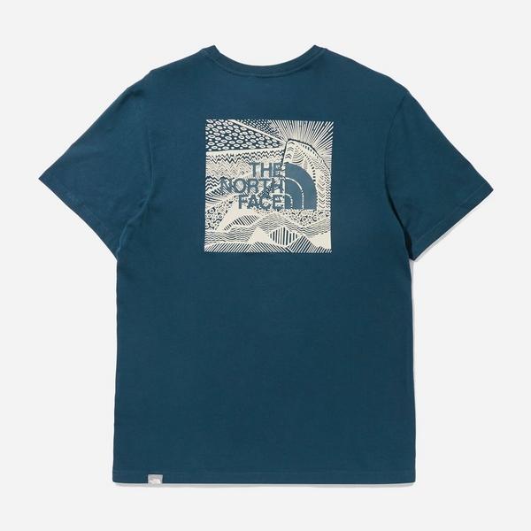 blue-the-north-face-redbox-t-shirt