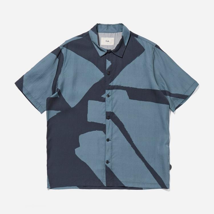 Folk Gabe Border Print Shirt
