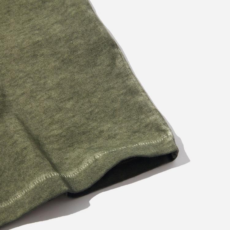 Folk Contrast Sleeve T-Shirt