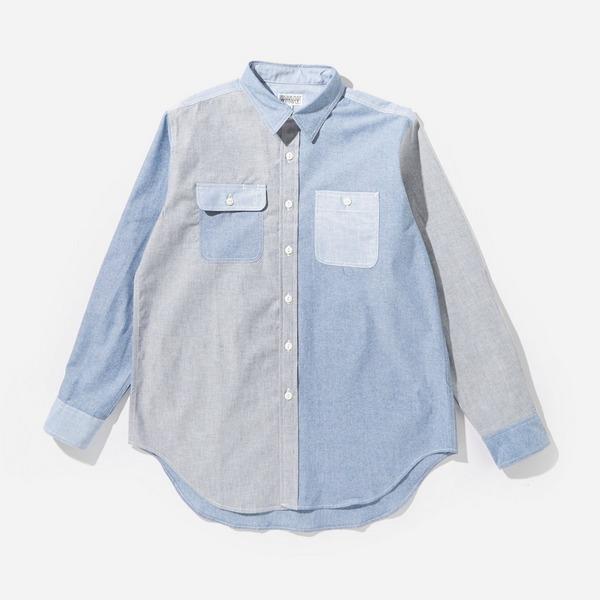 Engineered Garments Workaday Utility Shirt Cotton Chambray