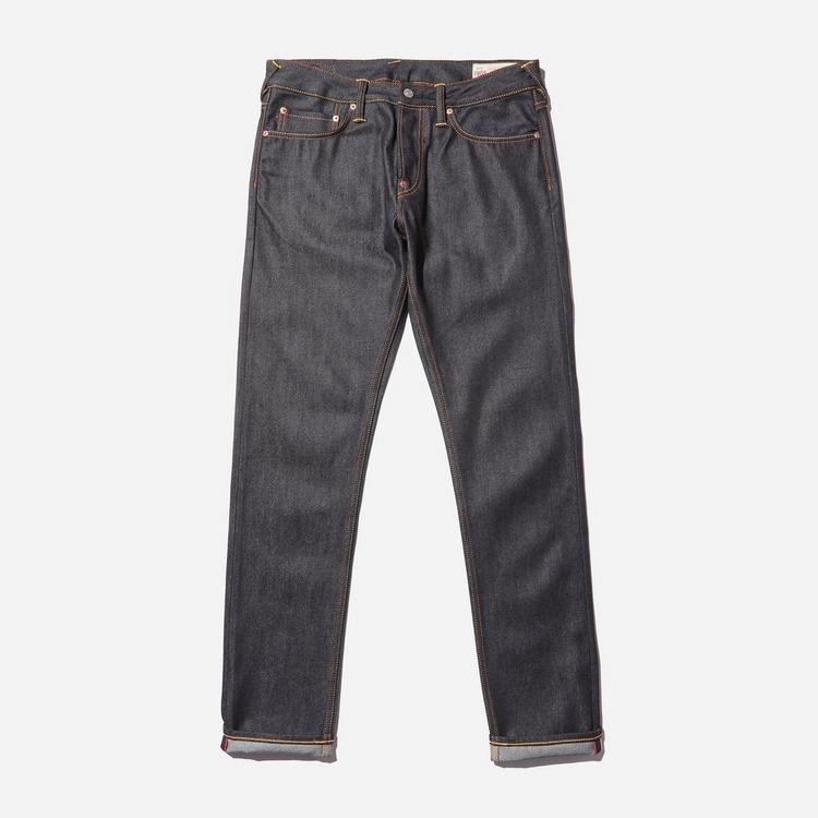 Evisu Seagull Print Raw Jeans