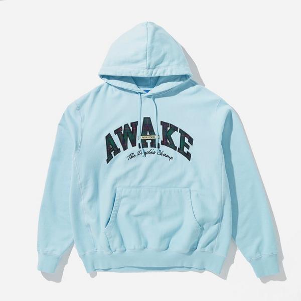 Awake NY Peoples Champ Plaid Logo Hoodie