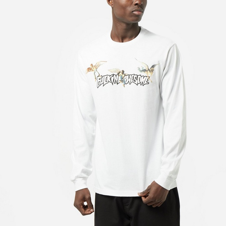 Fucking Awesome Angel Stamp Long Sleeved T-Shirt