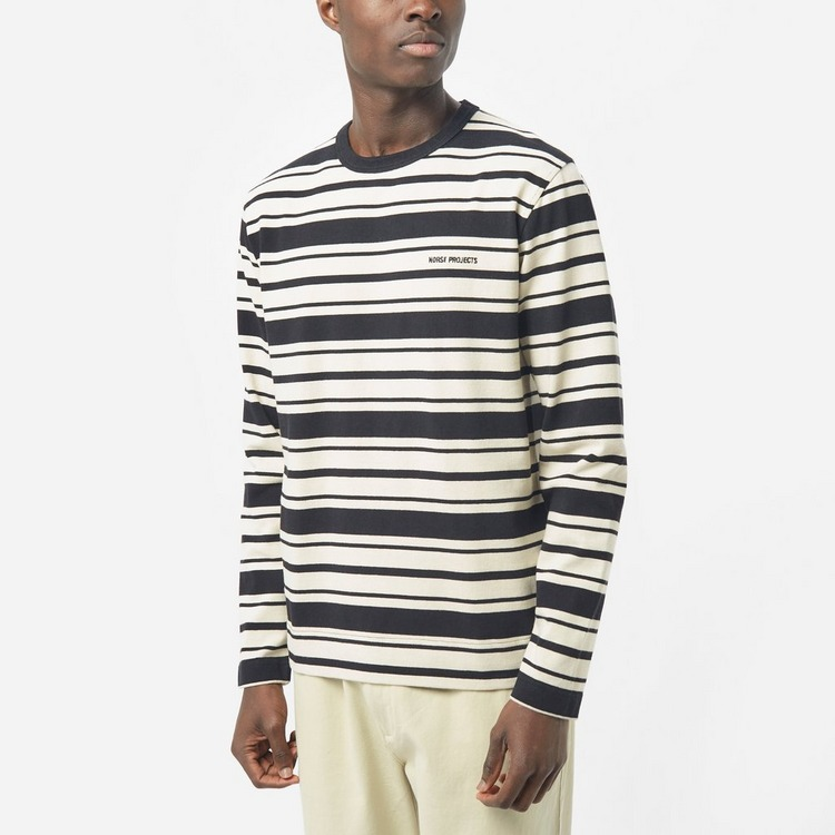 Norse Projects Holger Cotton Stripe T-Shirt