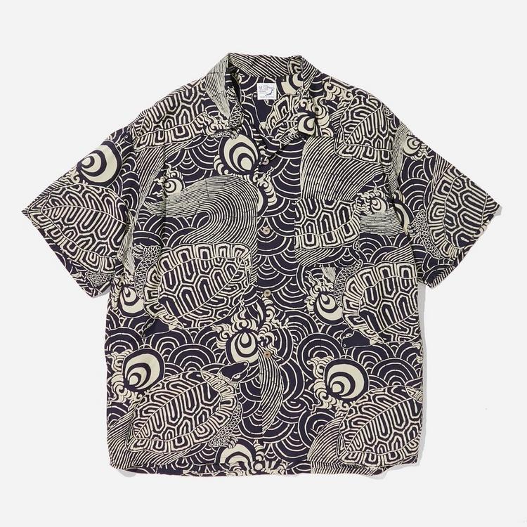 orSlow Turtle Print Aloha Shirt