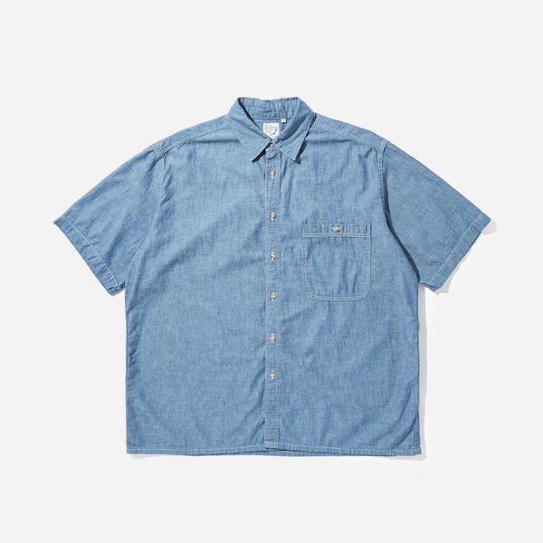 orSlow Loose Chambray Short Sleeved Shirt