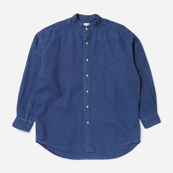 orSlow Loose Stand Collarless Shirt