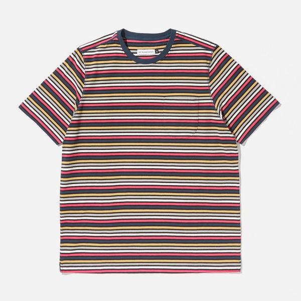 Pop Trading Company Striped Pocket T-Shirt