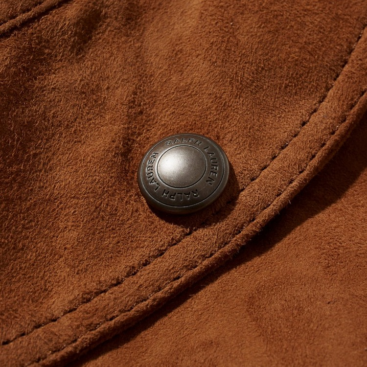 Polo Ralph Lauren Lined Suede Leather Jacket