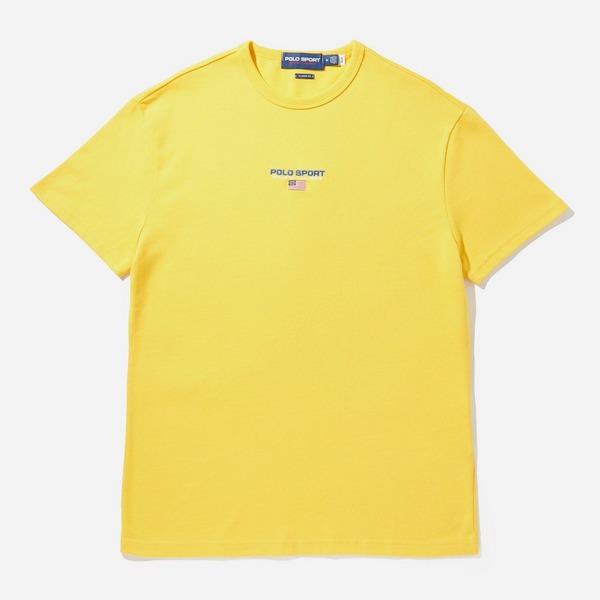 yellow-polo-ralph-lauren-small-logo-t-shirt