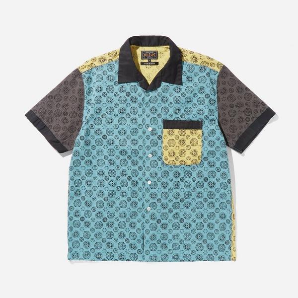 Beams Plus Open Collar Chujmi Print Short Sleeve Shirt