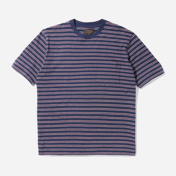 Beams Plus Nep Stripe Pocket T-Shirt