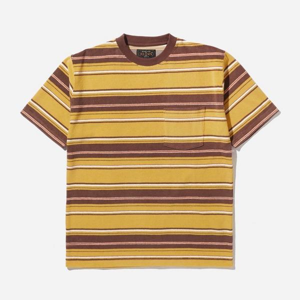 Beams Plus Pile Stripe Pocket T-Shirt