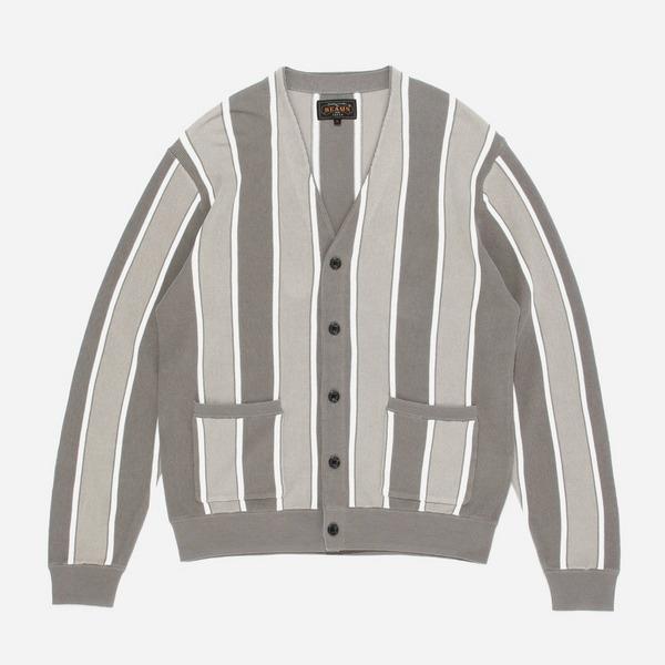 Beams Plus Striped Cardigan
