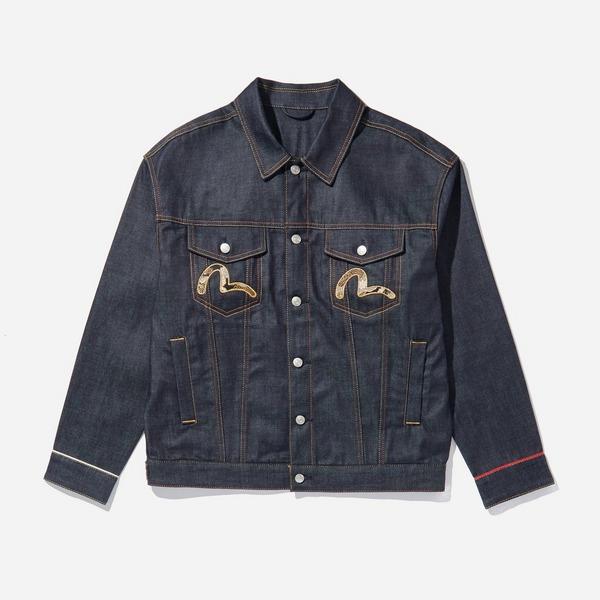 Evisu Embroidered Arc Patch Denim Jacket