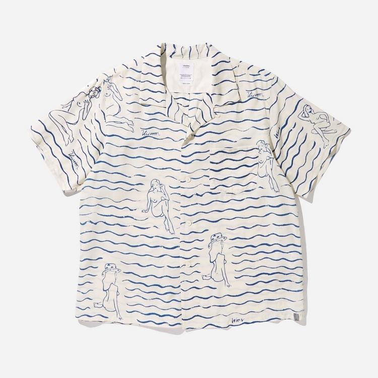 Visvim Gauguin Rayon Hand Drawn Short Sleeve Shirt