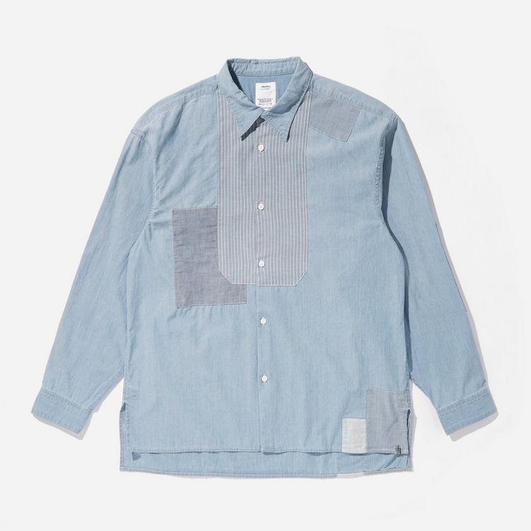 Visvim Chambray Patchwork Chore Shirt