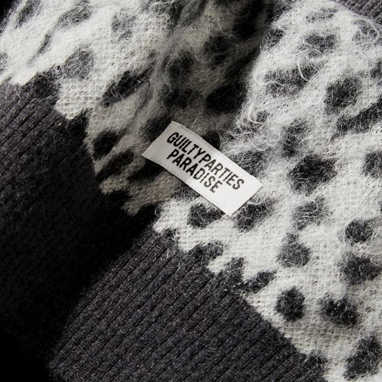 Wacko Maria Leopard Jacquard Knit Mohair Cardigan