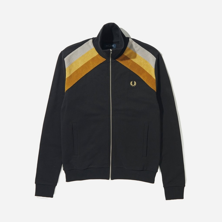 Fred Perry Towelling Stripe Track Jacket