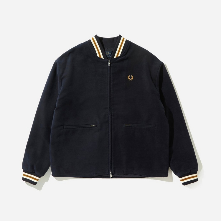 Fred Perry Lined Moleskin Bomber Jacket
