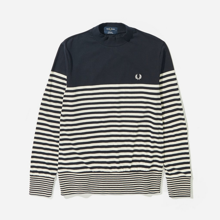 Fred Perry Striped Turtle Neck