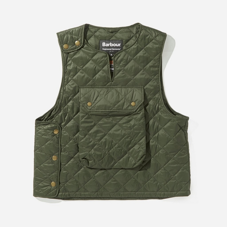 Barbour x Engineered Garments Popover Quilted Vest