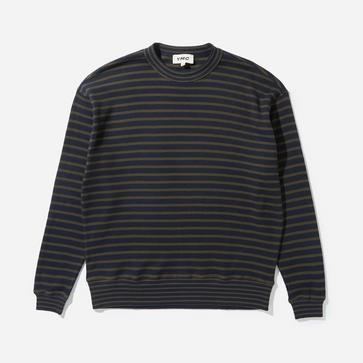 YMC Daisy Age Waffle Stripe Sweatshirt