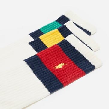 Polo Ralph Lauren Vintage Stripe Sock 3 Pack