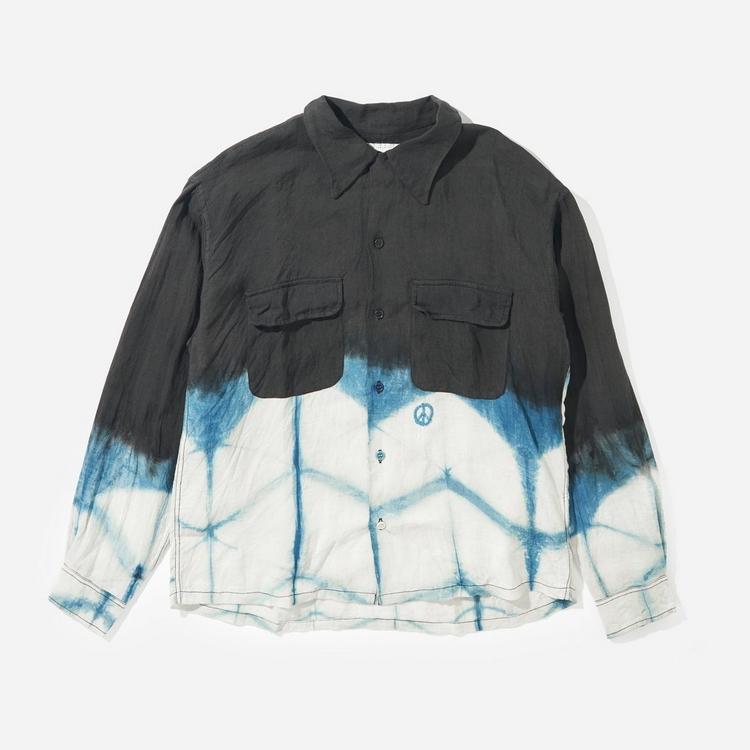 Story mfg. Dyed Organic Linen Snack Shirt