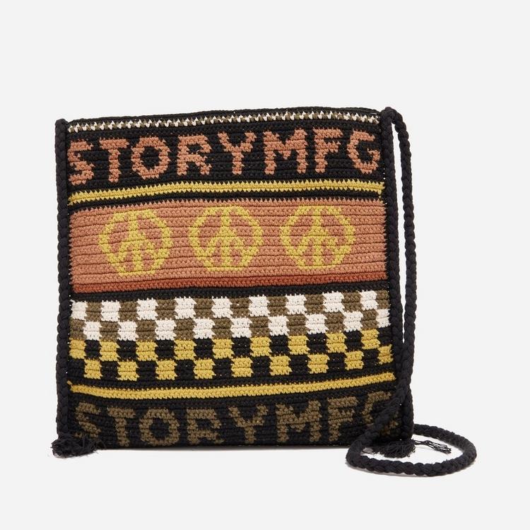 Story mfg. Peace Power Crochet Stash Bag