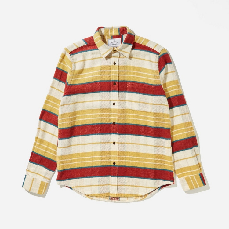 Portuguese Flannel Happy Stripe Shirt