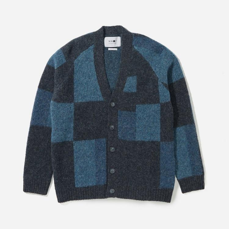 NN07 Viggo Geometric Knit Cardigan