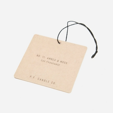 P.F. Candle Co. Amber & Moss Fragrance Car Tag