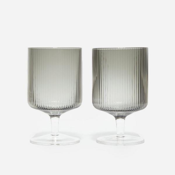 Ferm Living Ripple Wine Glass Set