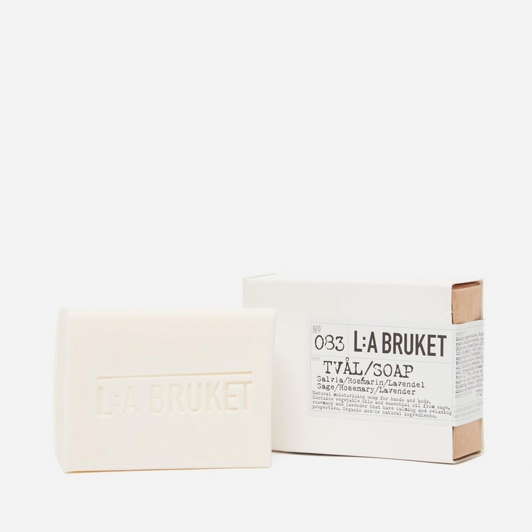 L:A Bruket Sage Bar Soap 120g