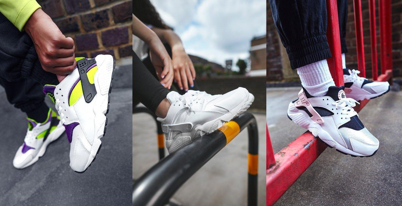 3 Modelle des Nike Air Huarache in Weiß