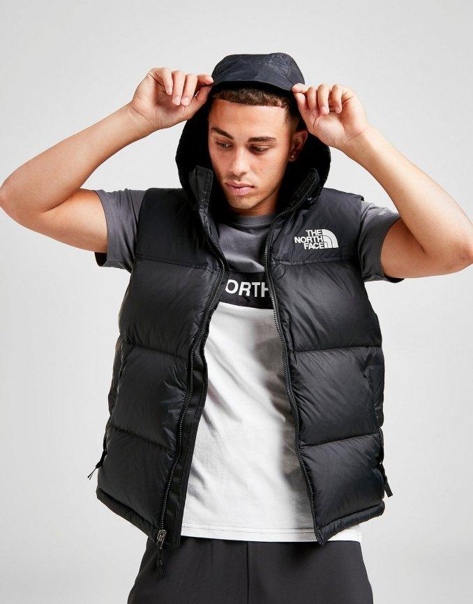 Nuptse The North Face man black vest