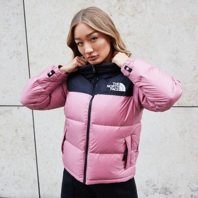 The North Face Nuptse Women's Black and Pink Jacket