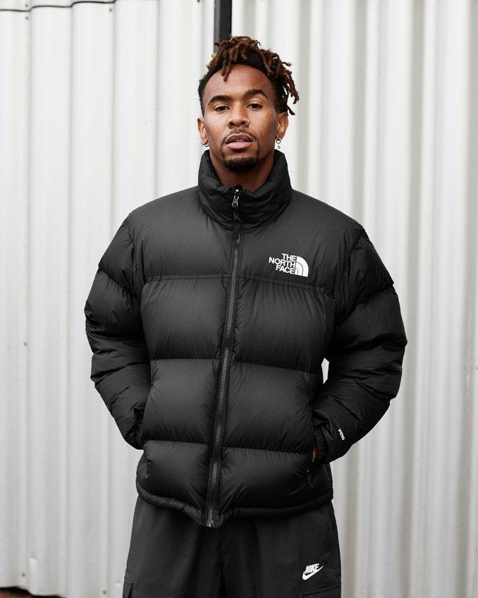 The North Face Nuptse casaco preto