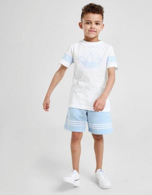 adidas originals completo t-shirt e calções menino