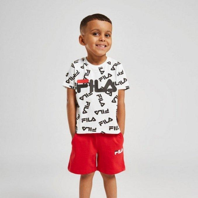 Completo t-shirt e shorts neonato Fila