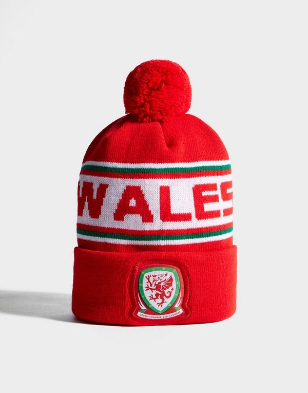 0de73b3aa Official Team Wales Text Knitted Bobble Hat | JD Sports