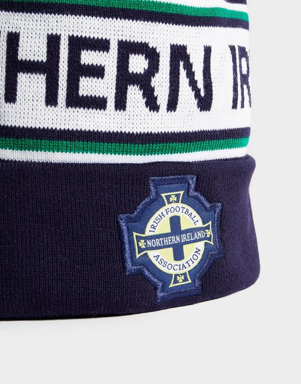 09c225f22ae41d Official Team Northern Ireland Text Knitted Bobble Hat