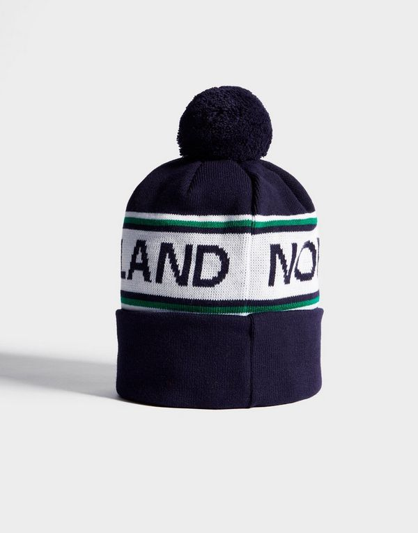 3a7835f6a74 Official Team Northern Ireland Text Knitted Bobble Hat