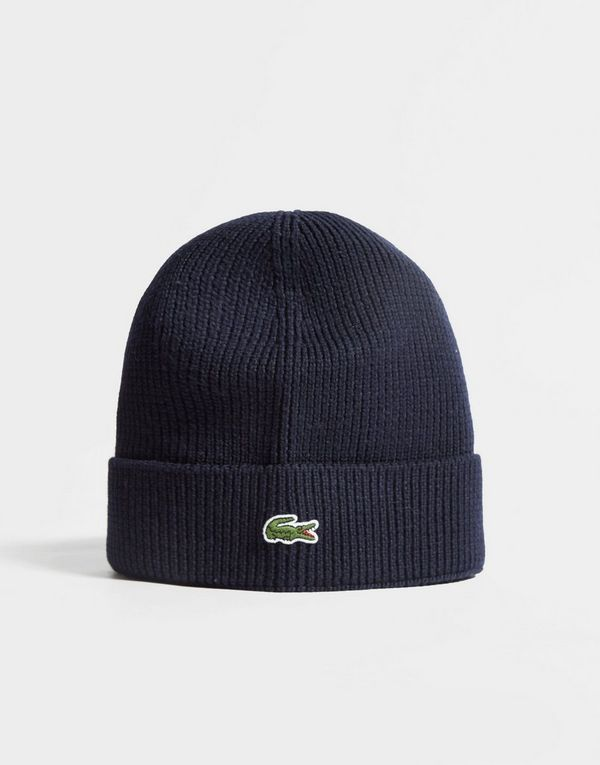 d7d74fe8 Lacoste Knitted Logo Beanie | JD Sports