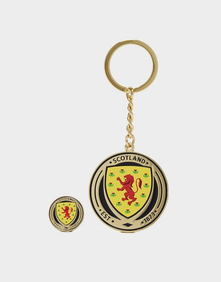 Official Team Scotland FA Keyring and Badge