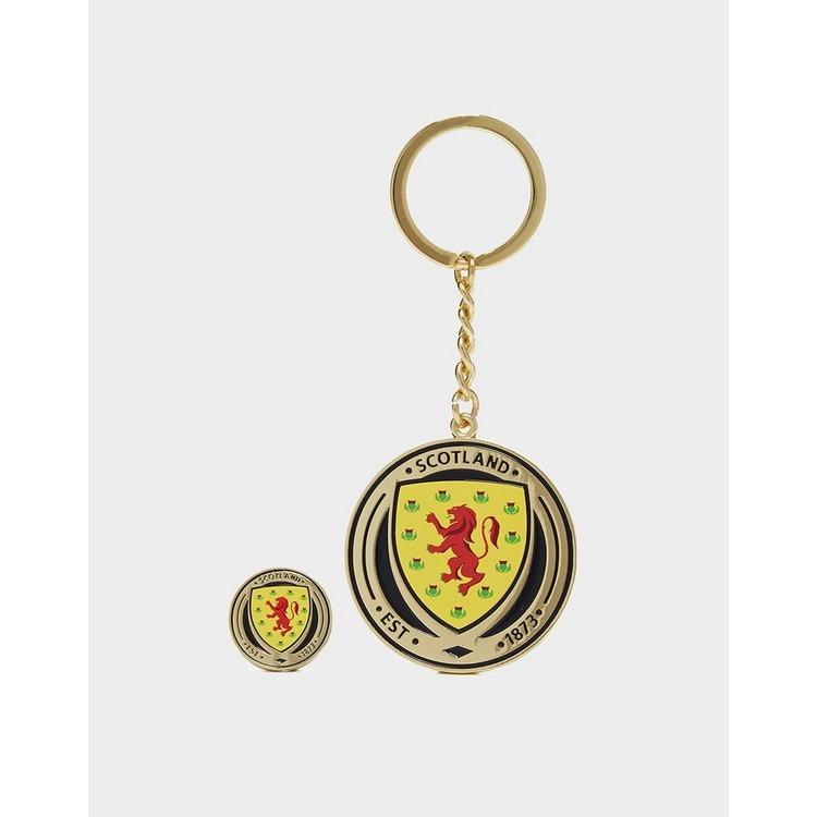 Official Team Scotland FA Keyring and Badge